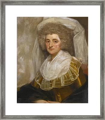 Portrait Of Mrs. Francis Ingram Framed Print by George Romney