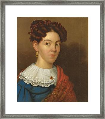 Portrait Of Mrs. Lawson Myrick Framed Print