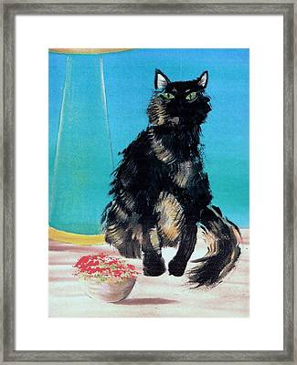 Portrait Of Muffin Framed Print