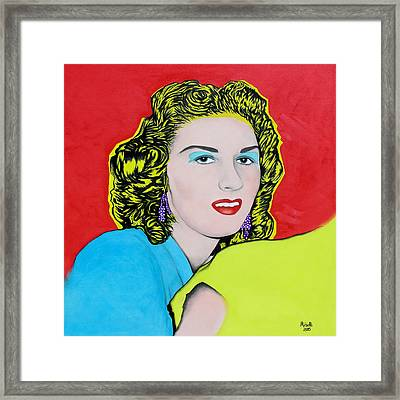 Portrait Of My Mother Framed Print by Joe Michelli