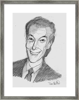 Portrait Of Neville Goddard Framed Print by Tim Botta