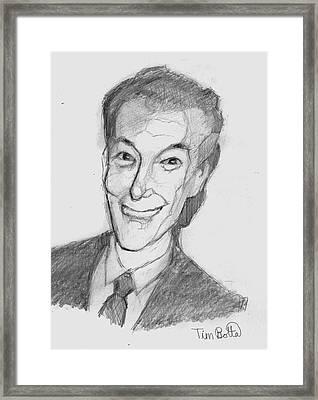 Portrait Of Neville Goddard Framed Print