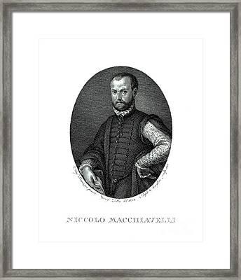 Portrait Of Niccolo Machiavelli  Framed Print