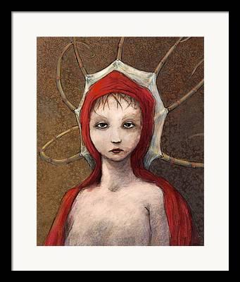 Hooded Figure Framed Prints