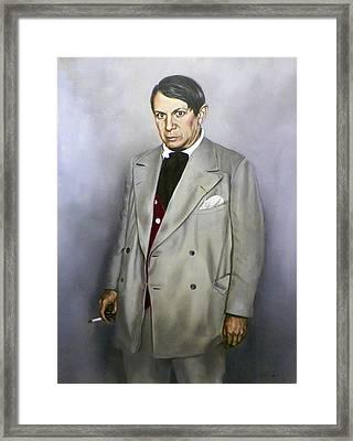Portrait Of Pablo Picasso Framed Print