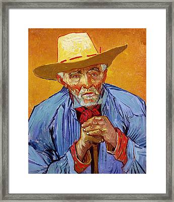 Portrait Of Patience Escalier Framed Print