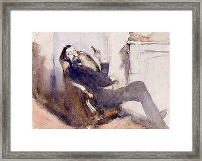 Portrait Of Paul Cesar Helleu Framed Print by John Singer Sargent
