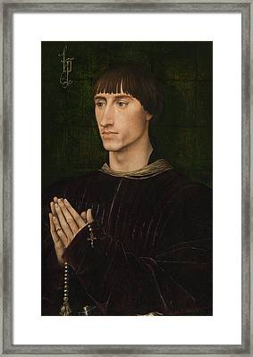 Portrait Of Philippe De Croy, Diptych, Right Wing Framed Print