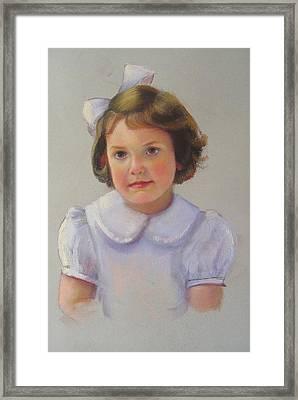 Portrait Of Polly Framed Print by Melanie Miller Longshore