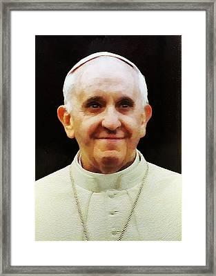 Portrait Of Pope Francis I Framed Print
