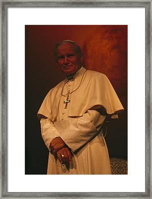 Portrait Of Pope John Paul II Framed Print by James L. Stanfield