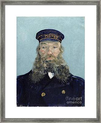 Portrait Of Postman Roulin Framed Print by Vincent van Gogh