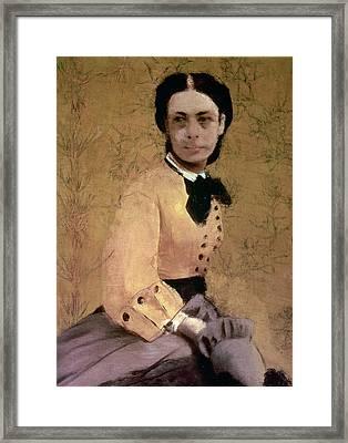 Portrait Of Princess Pauline De Metternich Framed Print by Edgar Degas