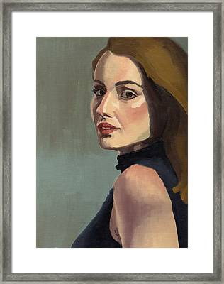 Framed Print featuring the painting Portrait Of Rachel Christine by Stephen Panoushek
