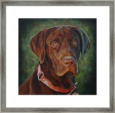 Portrait Of Remington 0094_2 Framed Print