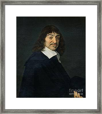 Portrait Of Rene Descartes Framed Print by Frans Hals