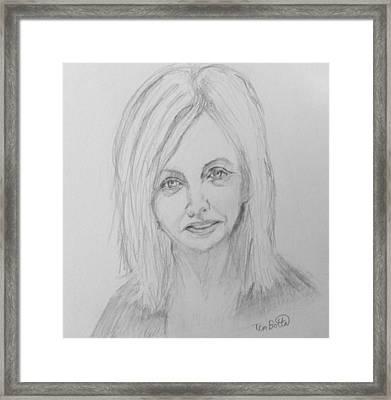 Portrait Of Rhonda Byrne Framed Print
