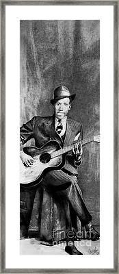 Portrait Of Robert Johnson Framed Print