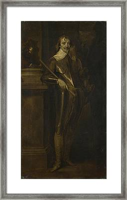 Portrait Of Robert Rich  Nd Earl Of Warwick Framed Print