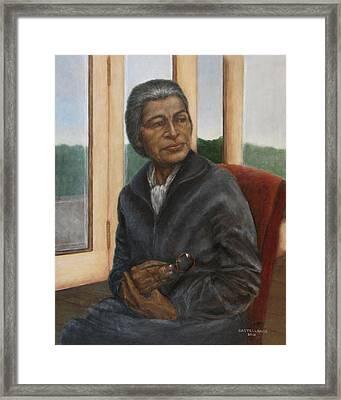 Portrait Of Rosa Parks Framed Print by Sylvia Castellanos