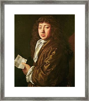 Portrait Of Samuel Pepys Framed Print