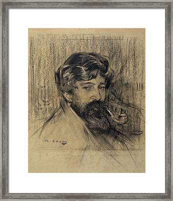 Portrait Of Santiago Rusinol Framed Print