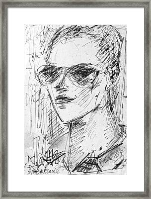 Portrait Of Self Framed Print by John Toxey