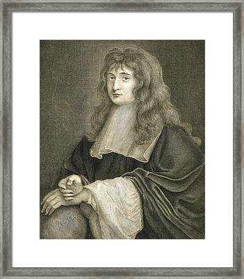 Portrait Of Sir Isaac Newton Framed Print by Sir Peter Lely