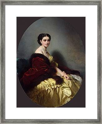 Portrait Of Sophia Petrovna Naryshkina Franz Xavier Winterhalter Framed Print