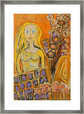 Portrait Of Sunshine Girl Framed Print by Maggis Art
