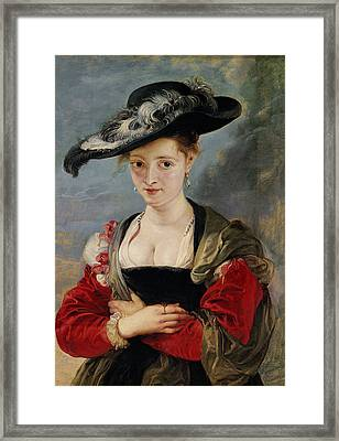 Portrait Of Susanna Lunden Framed Print by Peter Paul Rubens