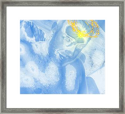 Portrait Of The Artist With Halo Framed Print