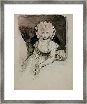 Portrait Of The Artist's Wife Framed Print