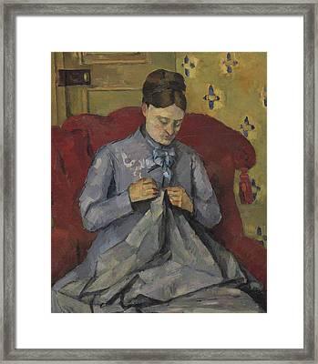 Portrait Of The Artist's Wife Framed Print by Paul Cezanne