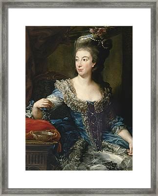 Portrait Of The Countess Maria Benedetta Di San Martino Framed Print by Pompeo Batoni