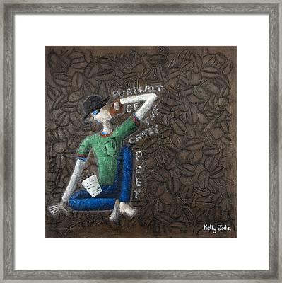 Portrait Of The Crazy Poet Framed Print