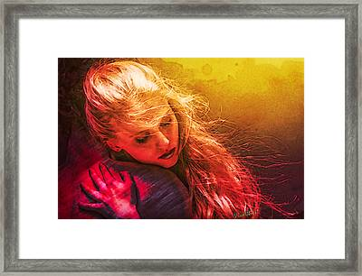 Portrait Of The Girl Who Dreams Of Her Poet Warrior Framed Print