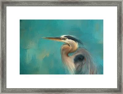 Portrait Of The Heron Framed Print