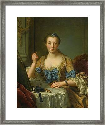 Portrait Of The Marquise  Framed Print by MotionAge Designs