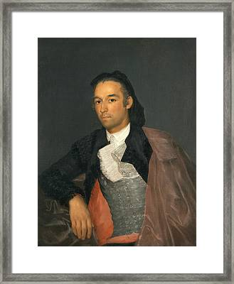 Portrait Of The Matador Pedro Romero Framed Print by Francisco Goya