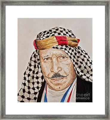 Portrait Of The Pro Wrestler Known As The Iron Sheik Framed Print by Jim Fitzpatrick