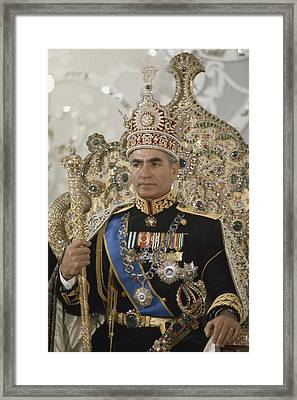 Portrait Of The Shah Of Iran Taken Framed Print by James L Stanfield