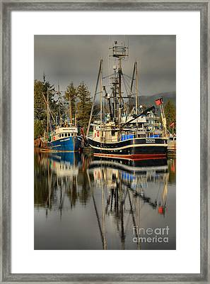 Portrait Of The Ucluelet Trawlers Framed Print by Adam Jewell