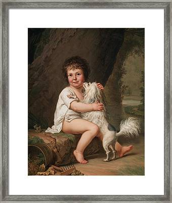 Portrait Of The Young Henri Bertholet Campan Framed Print by MotionAge Designs