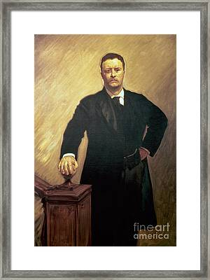 Portrait Of Theodore Roosevelt Framed Print