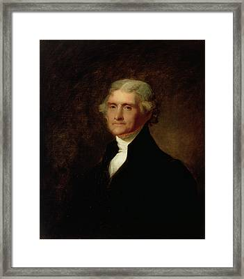Portrait Of Thomas Jefferson Framed Print by Asher Brown Durand