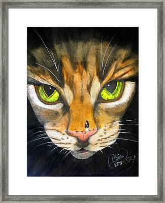 Portrait Of Tigger Framed Print by Chris Crowley