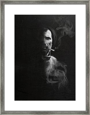 Portrait Of Tom Crean Antarctic Explorer Framed Print by Andy Walsh