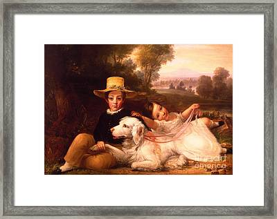 Portrait Of Two Children Framed Print by MotionAge Designs