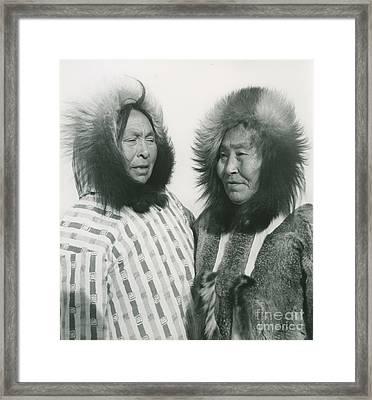 Portrait Of Two Indigenous Women Framed Print